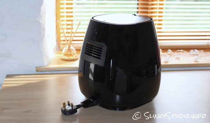 air fryer back side view