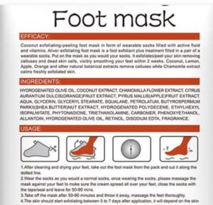 gyoyan foot mask ingredients