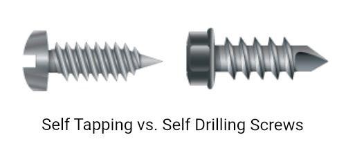 Self Tapping vs. Self Drilling Screws
