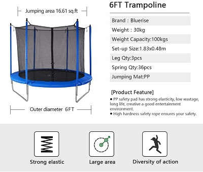 7 Best Trampolines for Kids: 99.99% Durable, Safe & Budget-friendly