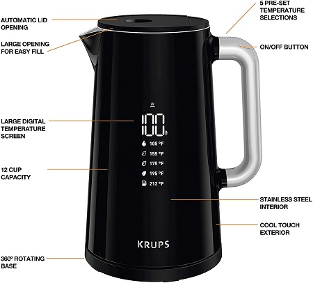 KRUPS Smart Temp Digital Kettle4