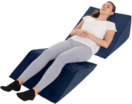 Wedge pillows with neck and leg support