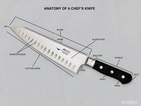 chef knives knife diagram